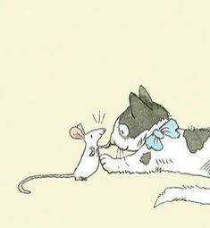 Cute Cartoon, Cartoon Art, Mouse Illustration, Photo Chat, Cat Cards, Animal Sketches, Cat Drawing, Cute Art, Anita Jeram