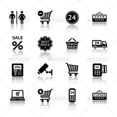 Set Pictograms Supermarket Services, Shopping Icon