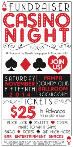 Casino Night Fundraiser Ticket & Poster Design on Behance
