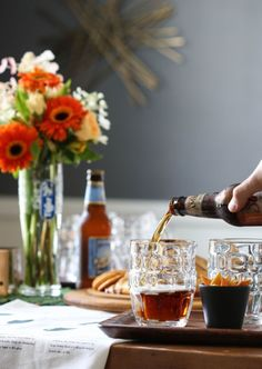 How to Host a Beer Tasting Party - fun ideas for a winter party!