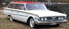1960 Edsel Villager. Production of Edsels ended November 19, 1959. This is one of only 216 6-passenger 1960 Edsel wagons built.