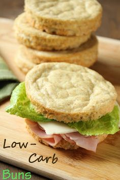 Even Better Low Carb, Wheat-Free Sandwich Buns - I would substitute Pyure Organic All-Purpose Stevia Sweetener instead of the sugar and I would also use coconut oil.