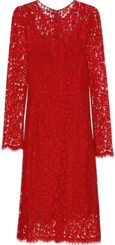 Dolce  and  Gabbana  Lace Dress - Lyst