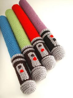 Amigurumi lightsabres. I need to get into crochet so that I can make some of these
