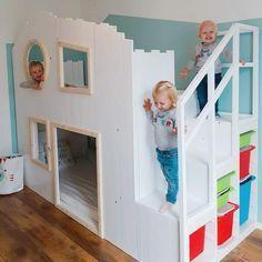 Diy Baumhaus Hochbett Ikea Kura Hack In 2020 Bett Kinderzimmer Hochbett Kinder Hochbett
