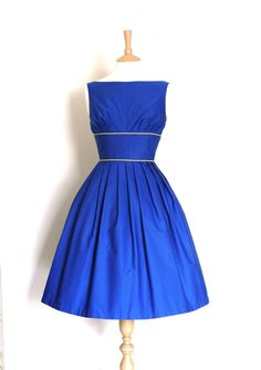 Indigo Blue Tiffany Prom Dress- Made by Dig For Victory £99.00