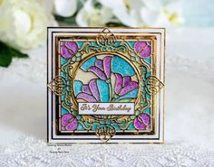 Patricia's Creative Corner - Papercrafting Inspiration Leaf Images, Flower Images, Clear Glue, Fabulous Birthday, Distress Oxide Ink, Heartfelt Creations, Ink Pads, Large Flowers, Embossing Folder