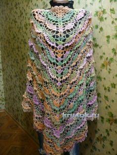 Пончо Карамель. Работа Светланы Клименко вязание и схемы вязания