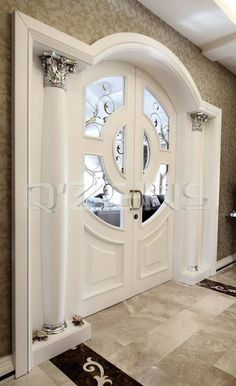 Fashionable modern and modern solid timber entrance doors offer your home elegance that can be reall Wooden Door Design, Main Door Design, Room Door Design, Dream Home Design, Modern House Design, Plafond Design, Door Design Interior, Interior Columns, Mansion Interior