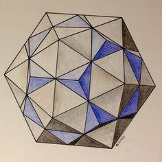 #regolo54 #solid #polyhedra #star #pentagon #geometry #symmetry #pattern #pencil #handmade #mathart #Escher #mandala #structure