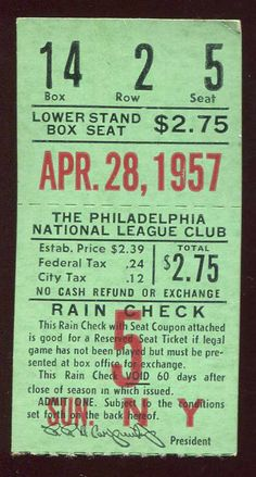 Sports Mem, Cards & Fan Shop Fan Apparel & Souvenirs Fine Rare 1943 Detroit Tigers Baseball Briggs Stadium Season Pass Full Ticket Stub