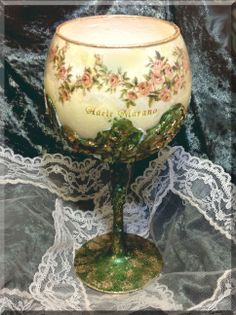 A beautiful Glass decorated by Adele Marano made with @CalambourPaper CAL 85 by…