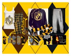 """""""Hufflepuff"""" by unorthodox-me ❤ liked on Polyvore featuring hogwarts and Hufflepuff"""