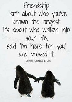 This is how I feel about my friendships. It doesn't matter how long u and your friend has been tougher, it's who she is.
