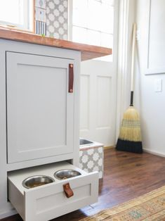Looking for Storage and Utility and Laundry Room ideas? Browse Storage and Utility and Laundry Room images for decor, layout, furniture, and storage inspiration from HGTV. Laundry Room Pictures, Tiny Laundry Rooms, Laundry Room Doors, Laundry Room Storage, Laundry Room Design, Kitchen Storage, Smart Kitchen, How To Make Bed, Kitchen Flooring