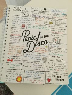 Panic! at the Disco lyric collage  By @swiggityswemo