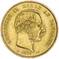 Christian IX. 1863 - 1906 20 Kroner 1873 Gold, Kopenhagen