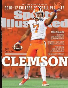 Mike Williams on Sports Illustrated cover - Mike Williams Clemson Football Player Update | TigerNet