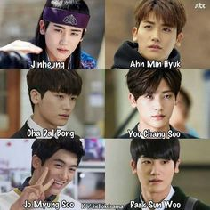 Characters played by Park Hyung Sik Korean Drama Funny, Korean Drama List, Korean Drama Quotes, Korean Drama Movies, Park Hyung Sik, Strong Girls, Strong Women, Park Hyungsik Strong Woman, Ahn Min Hyuk