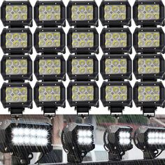 20X 18W 4inch Cree Pods Spot LED Work Light  Fog Bumper ATV Pickup Boat Jeep 4x4 | eBay
