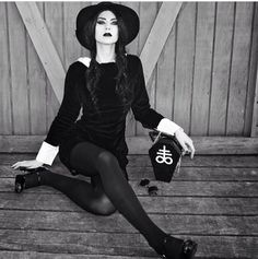 Modern witch fashion lookbook. I adore this style.