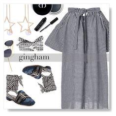 """Gingham"" by simona-altobelli ❤ liked on Polyvore featuring Miu Miu and Bobbi Brown Cosmetics"