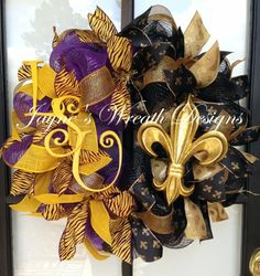LSU Saints burlap wreath - Google Search