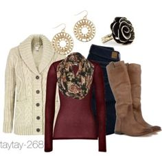 Fall Fashion: Sweaters & Flowers