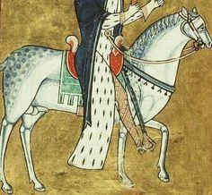 12th century palfrey in fine gear.