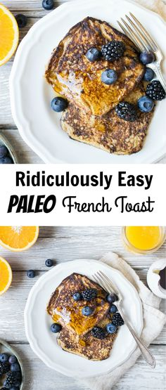 This Paleo french toast is made with only 5 healthy ingredients and comes together in 10 minutes! Enjoy a fast and delicious breakfast without any guilt! Healthy Breakfast Recipes, Brunch Recipes, Paleo Recipes, Real Food Recipes, Paleo Meals, Easy Recipes, Vegetarian Paleo, Spaghetti Squash, French Toast