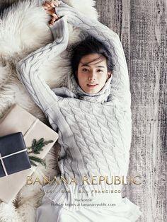 Model: Mackenzie Hamilton (DNA) Ad Campaign: Banana Republic, Holiday 2014 Photographer: Norman Jean Roy
