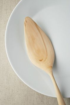 """Hand Carved Wooden 9.8"""" Serving Spatula, Pie Or Cake Server Made From Fruit Tree Wood by Whole Grain Homes on Gourmly"""