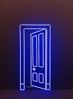 Neon by artist Gavin Turk at Almine Rech Gallery.