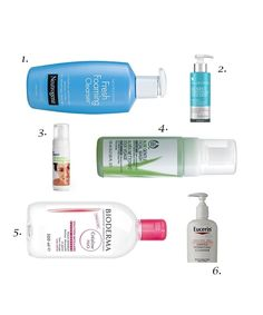Best Face Cleansers for Combination Skin: 1. Neutrogena Fresh Foaming Cleanser 2.Paula's Choice Perfectly Balanced Foaming Cleanser 3. Boots Expert Anti-Blemish Cleansing Foam 4. The Body Shop Aloe Gentle Facial Wash Sensitive Skin 5. Bioderma Sensibio H20 6. Eucerin Gentle Hydrating Cleanser. #BareBeauty