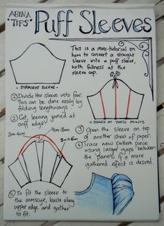 Puffed sleeve tutorial