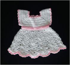 Biało różowa sukienka dla dziewczyki - Fantazja-handmade - Sukienki dla niemowląt