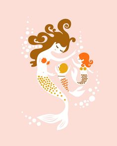 I love this--Just needs one more mermaid :) From The @thepapernut