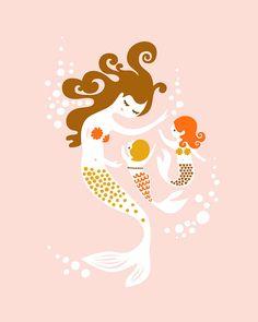 Mermaid Mama & Babies