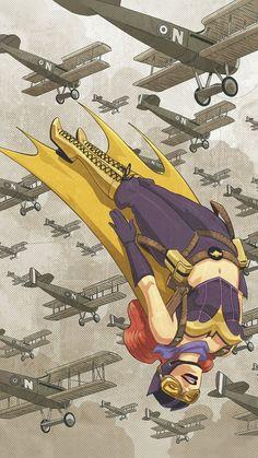 Bombshell Batgirl by Elsa Charretier                                                                                                                                                                                 More
