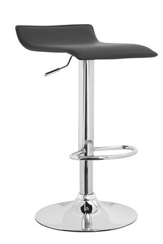 Meki Adjustable Height Swivel Bar Stool with Cushion (Set of 2)