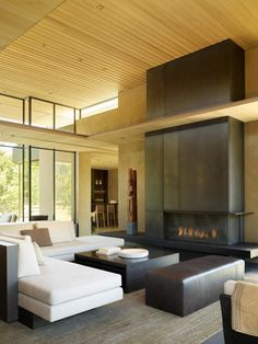 Olson Kundig — California Meadow House Grand Designs Uk, Home Heating Systems, Glass Pavilion, Energy Efficient Homes, Global Design, Outdoor Living Areas, Minimalist Living, Modern Living, Architect Design