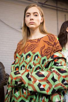 Dries Van Noten at Paris Fashion Week Fall 2017 - Backstage Runway Photos