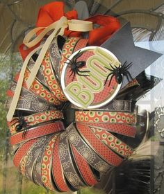 Halloween Wreath by Jenifer Harkin via Jillibean Soup Blog