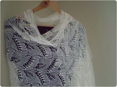 Hand knitted natural white wedding shawl, traditional Estonian lace, Haapsalu shawl soft cobweb merino MADE TO ORDER. $149.00, via Etsy.