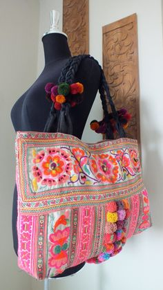 Ethnic handmade bag vintage fabric-bohemian bags by shopthailand