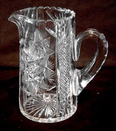 Vintage Glass Water Pitcher