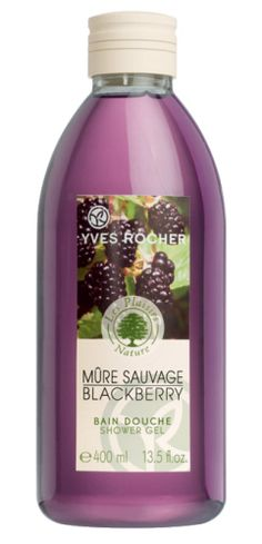 Yves Rocher Wild Blackberry Shower Gel for a delicious shower!   Bain Douche – Mûres sauvages d'Yves Rocher un plaisir gourmand !