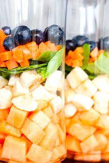 Mad & Søde Sager: 6 fantastiske smoothier Fruit Salad, Cantaloupe, Juice, Drinks, Milkshakes, Recipes, Food, Sodas, Drinking