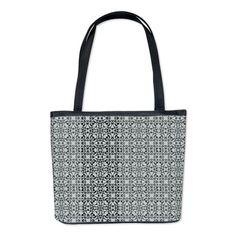 Vintage Blue Pattern Bucket Bag on CafePress.com