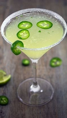 Jalapeno parsley sour #martini